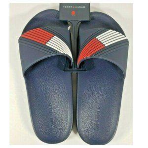 NWT - TOMMY HILFIGER Men's Blue Sandals - SZ 10 M